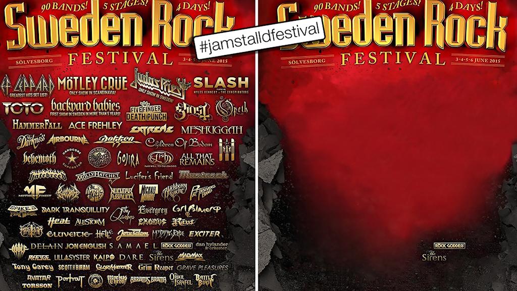 Sweden Rockfestivalen utan mansdominerade akterna. Foto: Jämställd festival
