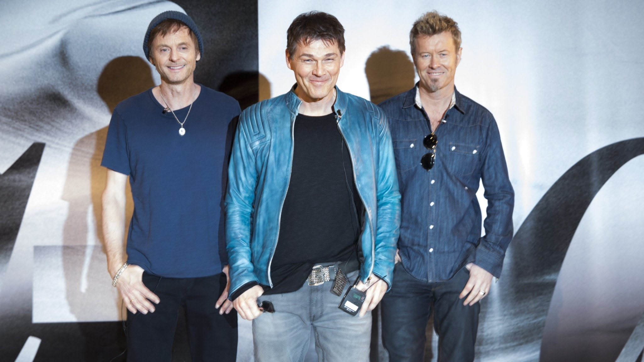 De tre medlemmarna i popgruppen A-ha.