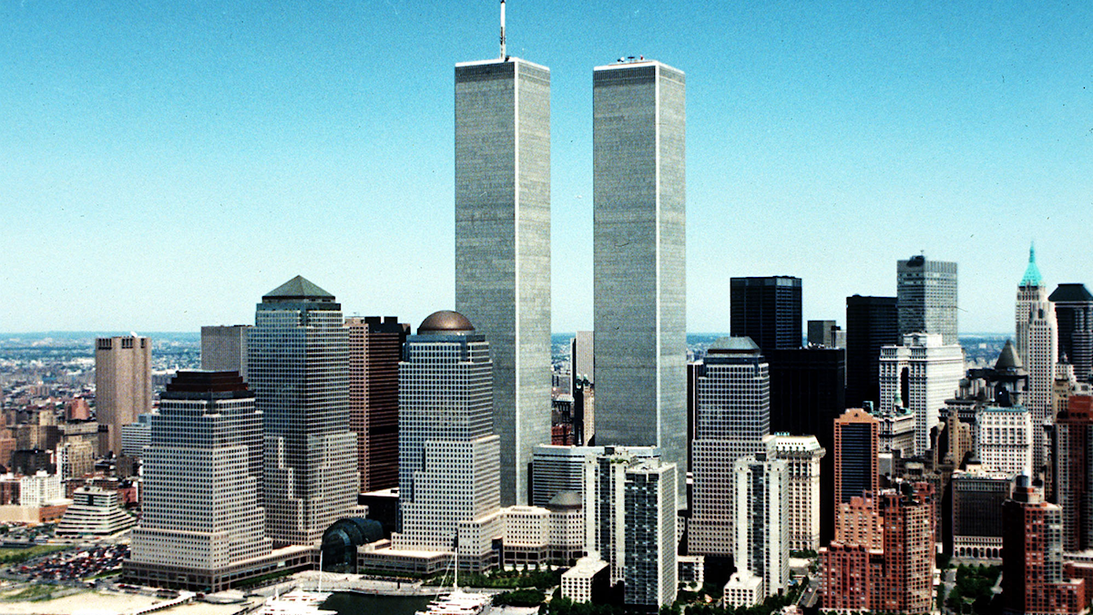 "Tvillingtornen i New York. ""Bleeding Edge"" utspelar sig vid tiden för attentatet mot World Trade Center. Foto:TT"