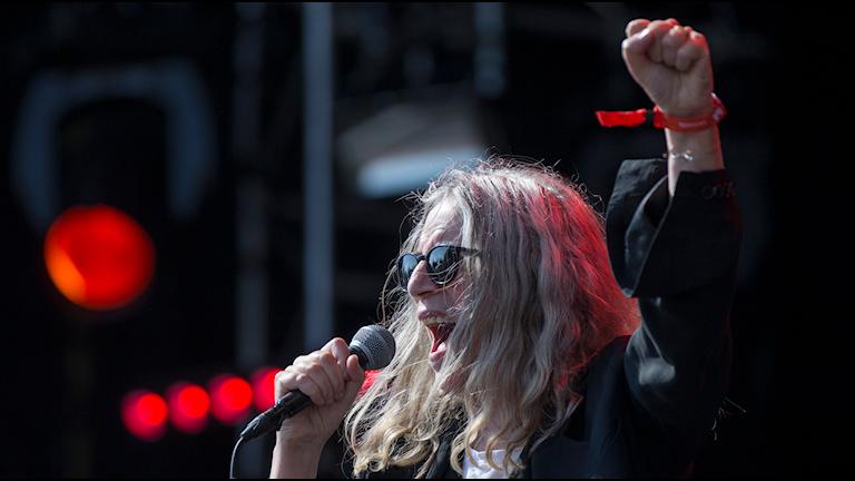 Patti Smith. Foto: Peter Klaunzer/AP/TT.