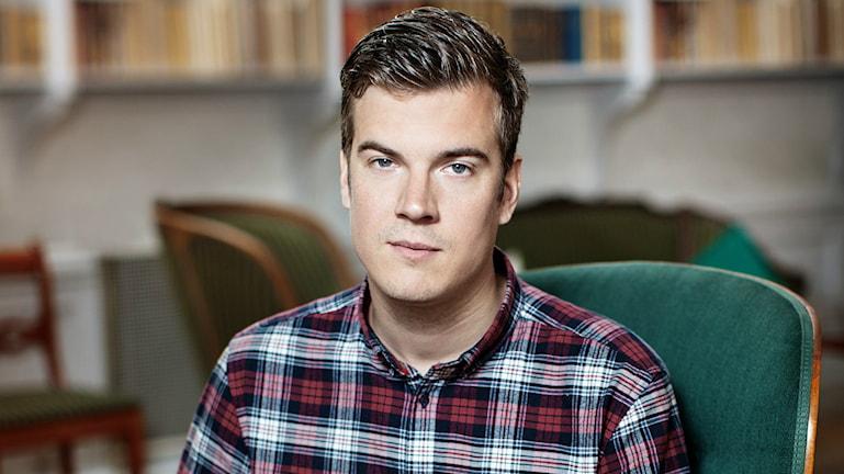 Gunnar Ardelius, ordförande författarförbundet. Foto: Rosie Alm.