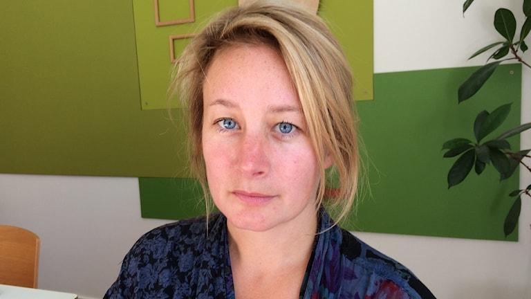 Beata Gårdeler, filmen Flockens regissör. Foto: Björn Jansson/Sveriges Radio.