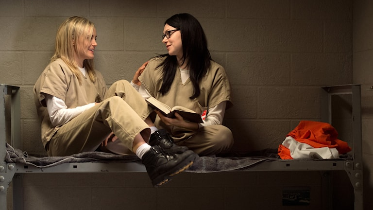 """Orange is the new black"", en av de nominerade tv-serierna. Foto: Netflix / AP / TT"