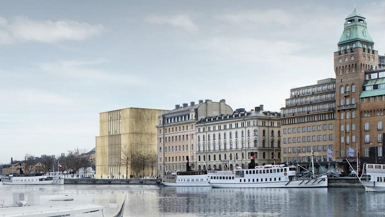 Nytt förslag till Nobelcenter. Foto: David Chipperfield Architects.
