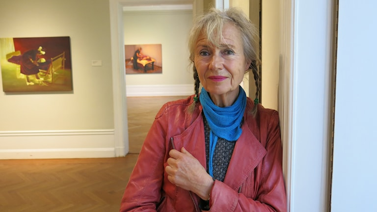 Karin Broos på Waldemarsudde. Foto: Björn Jansson/Sveriges Radio.