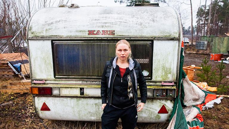 Minna (Malin Levanon) i Tjuvheder. Foto: Nadja Hallström
