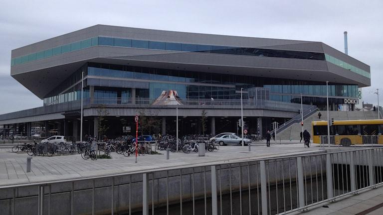 Det nybyggda biblioteket Dokk1 i Århus. Foto: David Richter/SR