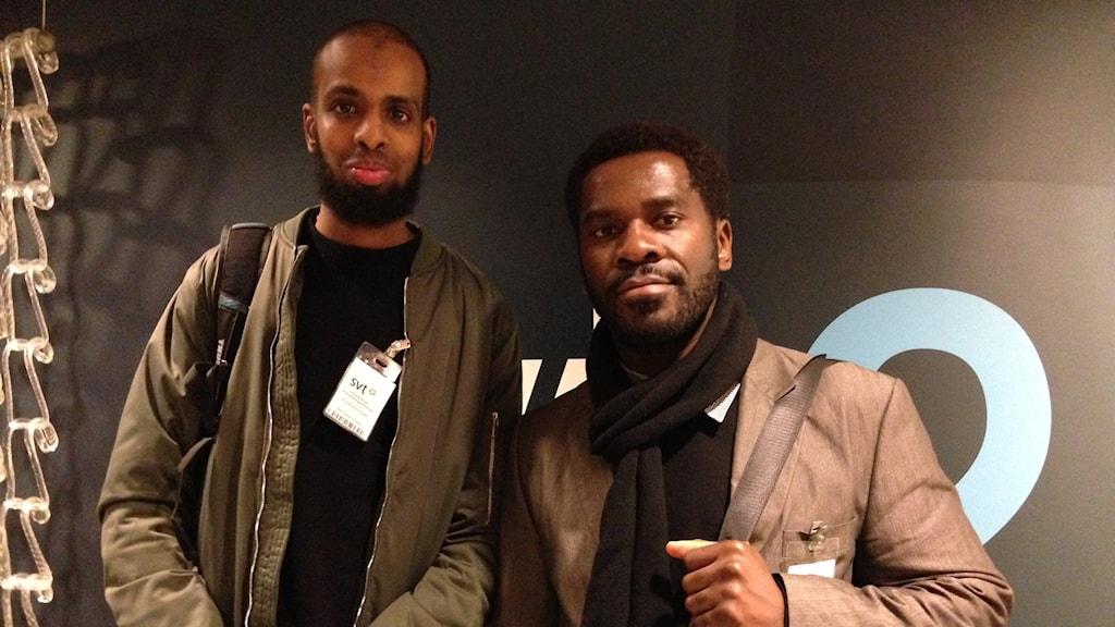 Rashid Musa och Kitimbwa Sabuni. Foto: Berit Nygren/SR