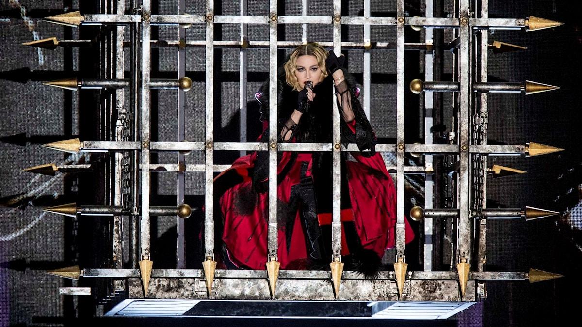 Madonna på Tele 2 Arena i Stockholm. Foto: Christine Olsson / TT