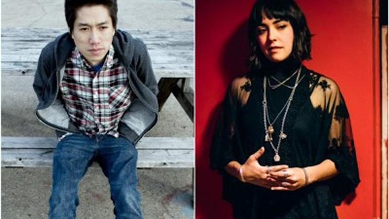 Poeterna Tao Lin och Mira Gonzalez. Foto: Stockholm internationella poesifestival