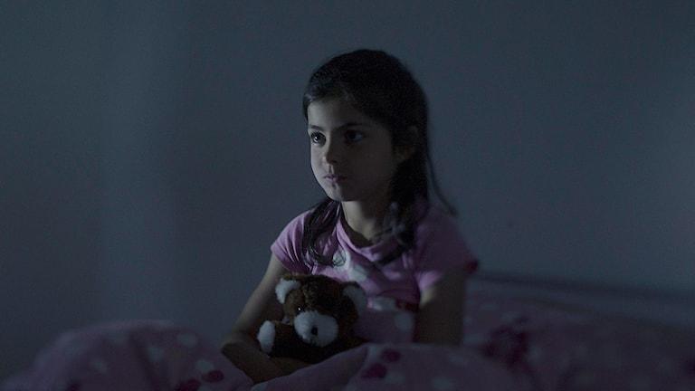 Fatima, 9 år. Foto: Magnus Wennman