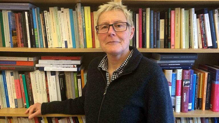 Om två år beräknas arbetet med det digitala kvinnobiografiska lexikonet vara klart, berättar historieprogfessor Maria Sjöberg. Foto: Mina Benaissa/SR