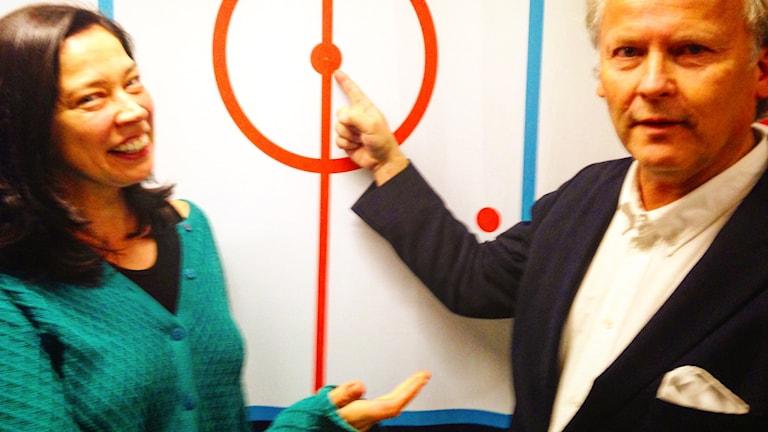Marie Lundström och Klas Östergren. Foto: Sveriges Radio
