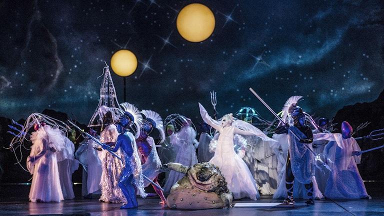 Tryllefloyten i regi av Alexander Mörk Eidem på den norske Opera. Foto: Erik Berg.