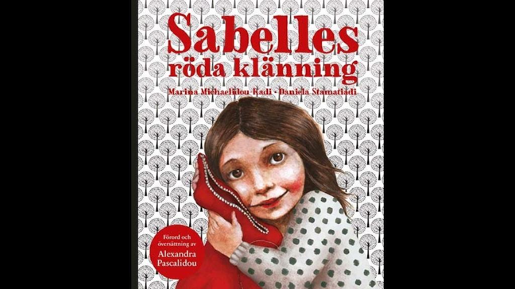Sabelles röda klänning. Illustration: Daniela Stamatiadis/Mirando bok.