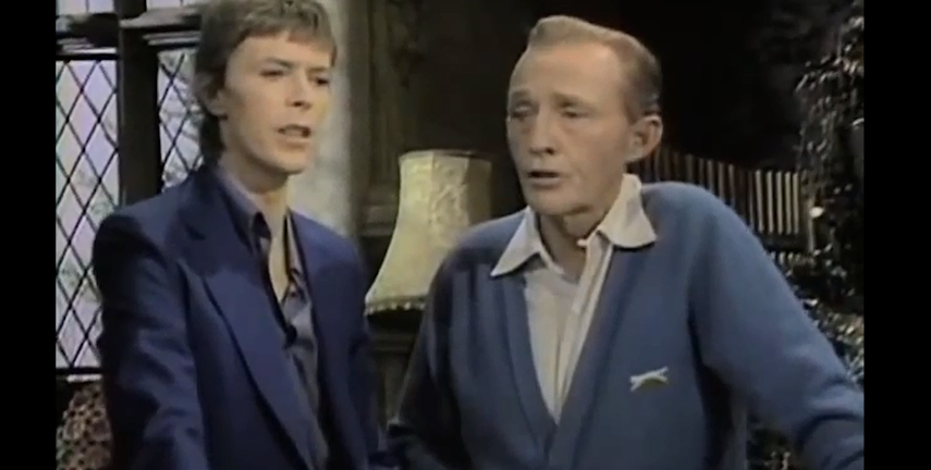 """David Bowie och Bing Crowby framför """"Little Drummer Boy"""". Foto: Skärmdump från Youtube"""