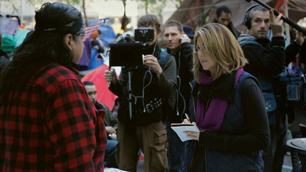 Naomi Klein och filmteamet i New York. Stillbild från This Changes Everyting.