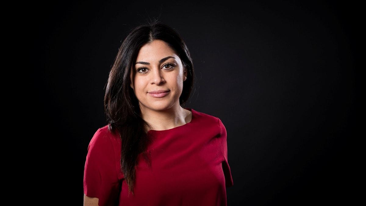 Mona Masri, programledare P1 Kultur. Foto: Micke Grönberg/Sveriges Radio.