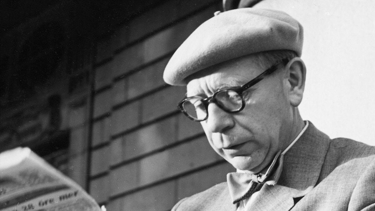 Radiotjänsts teaterchef Herbert Grevenius 1950. Foto:  Sören Hoffman/SVT BILD.