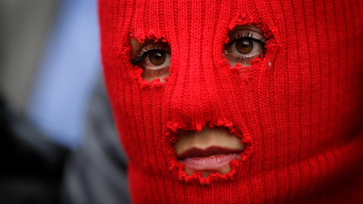 Medlem ur Pussy Riot. Foto: David Goldman/TT