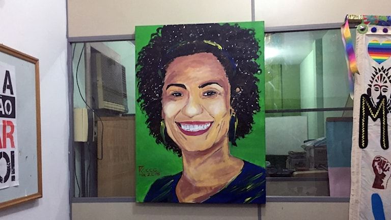 Museu da Maré förbereder en utställning om den mördade vänsterpolitikern Marielle Franco, som föddes och växte upp här i favelan.