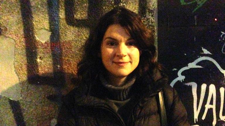 Konsthistorikern och galleristen Milica Pekic i Belgrad. Bild: Maria Georgieva/SR