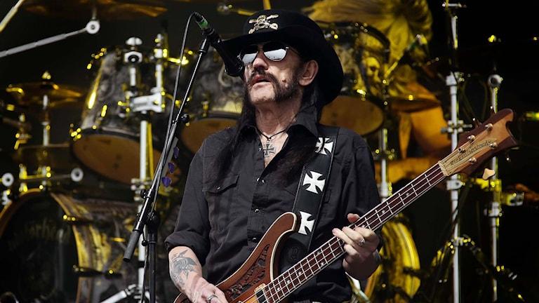 Hårdrocksbasisten Lemmy Kilmister. Foto: Joel Ryan/TT.