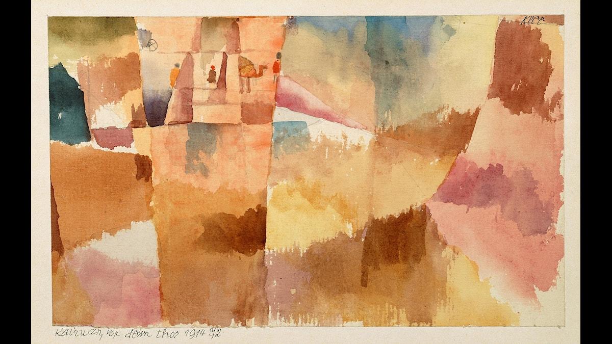 Paul Klee, Kairuan, vor dem Thor | Kairuan, framför porten, 1914 © Paul Klee