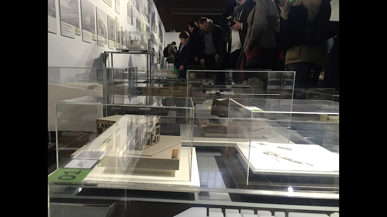 Utställningen Made in Europe på Wroclaws arkitekturmuseum. Foto: Lisa Bergström