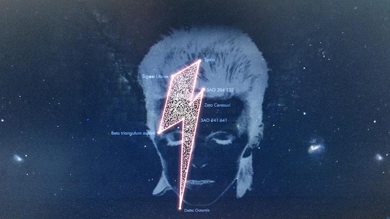 David Bowie stjärnbild. Foto: Stardustforbowie.be