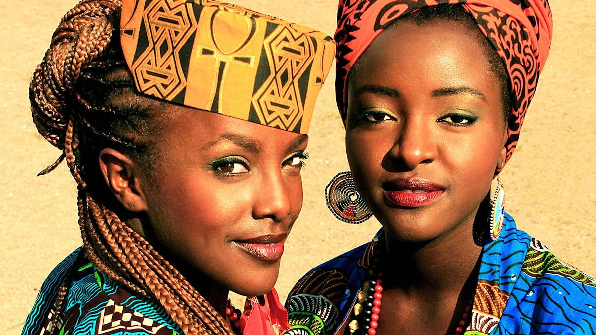 Niki och Tsappos och Martha Nabwire, de första kvinnliga världsmästarna i hiphop. Foto: Folkets bio