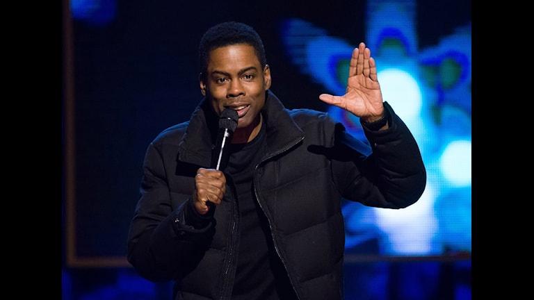 Ende afroamerikanen på Oscarsgalan? Värden Chris Rock. Foto: Charles Sykes/TT