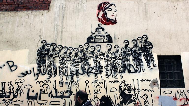Nu anläggs det också moraliska aspekter på konsten i Egypten, enligt Freemuse. Foto: Nasser Nasser/TT
