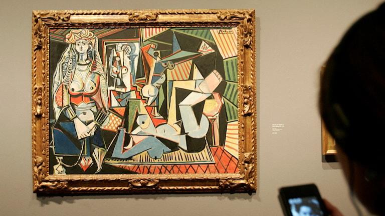 """Picassos tavla """"Les femmes d'Algers"""". Foto: AP/TT."""