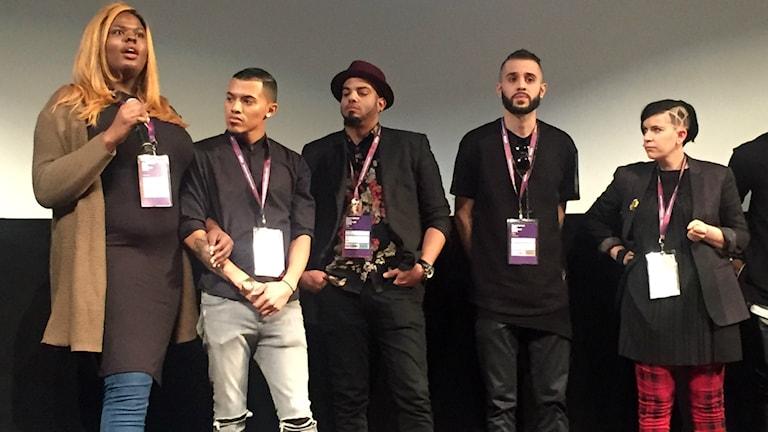 Medverkande i dokumentären KIKI vid en frågestund efter premiärvisningen på Sundance. Foto:Lisa Bergström
