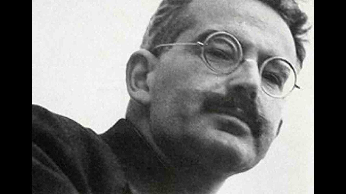 Författaren Walter Benjamin (1892-1940).