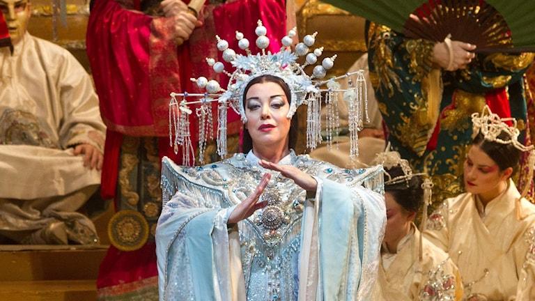 "Nina Stemme i ""Turandot"" på Metropolitan Opera i New York. Foto: AP/TT"