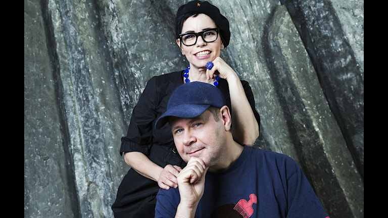 Carolina Norén och Micke Cederberg. Foto: Mattias Ahlm/Sveriges Radio