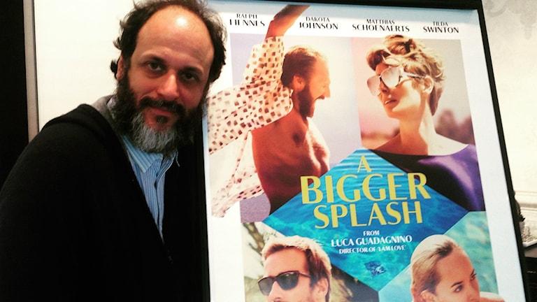 """Den italienske regissören Luca Guadagnino, """"A Bigger Splash"""" besöker Göteborgs filmfestival. Bild: Maria Georgieva/SR."""