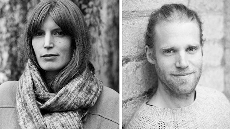 Helena Granström och Marcus Elmerstad, som gjort boken Det som en gång var. Foto: Sofia Runarsdotter / Marcus Elmerstad