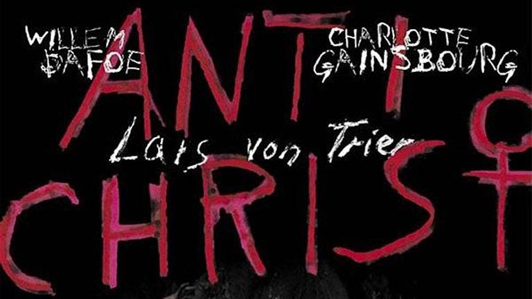 Filmaffisch från von Triers film Antichrist.