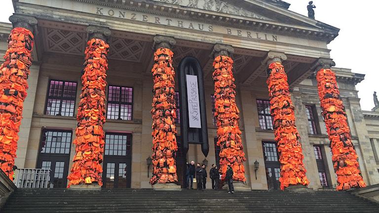Ai Weiweis installation i Berlin. Foto: Lisa Bergström/Sveriges Radio.