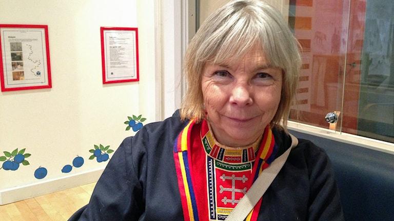 Harriet Nordlund, författare, dramatiker. Foto SR/Helene Alm.