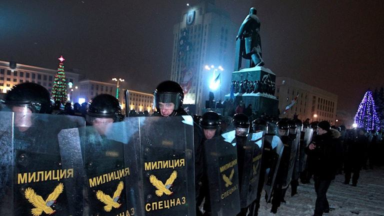 Minsk efter presidentvalet december 2010.