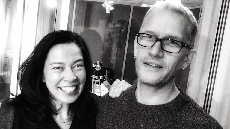 Poeten Mats Söderlund med Marie Lundström