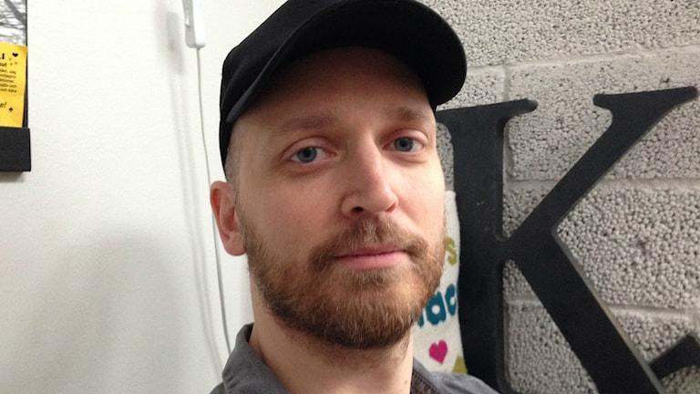 Sebastian Flavet, medlem i fackförbundet DIK. Bild: Teresa Kristoffersson