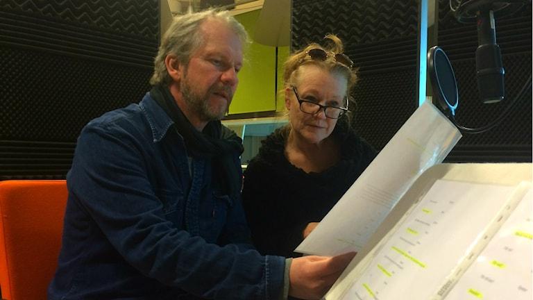 Inspelning av Henning Mankells sista pjäs för Radioteatern/Foto: Beatrice Dalghi