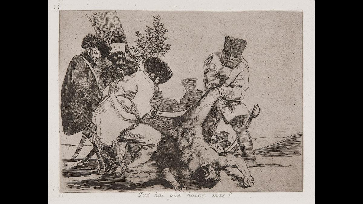 Francisco Goya, Los Desastres de la Guerra, 1810-23. Samling Nationalmuseum.