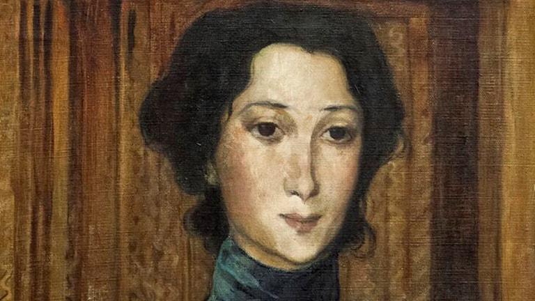 Detalj ur porträtt av Fru Jeanne Eriksson. (1895). Foto: Tord Lund/Thielska Galleriet.