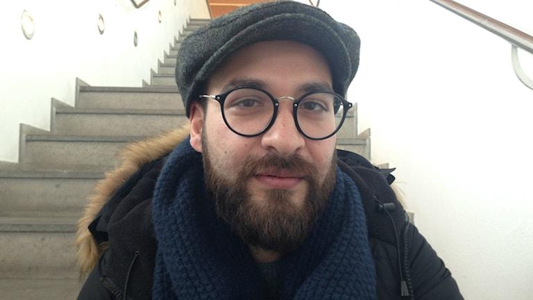 Housam Al-Mosili, fristadsförfattare i Linköping. BILD: Teresa kristoffersson